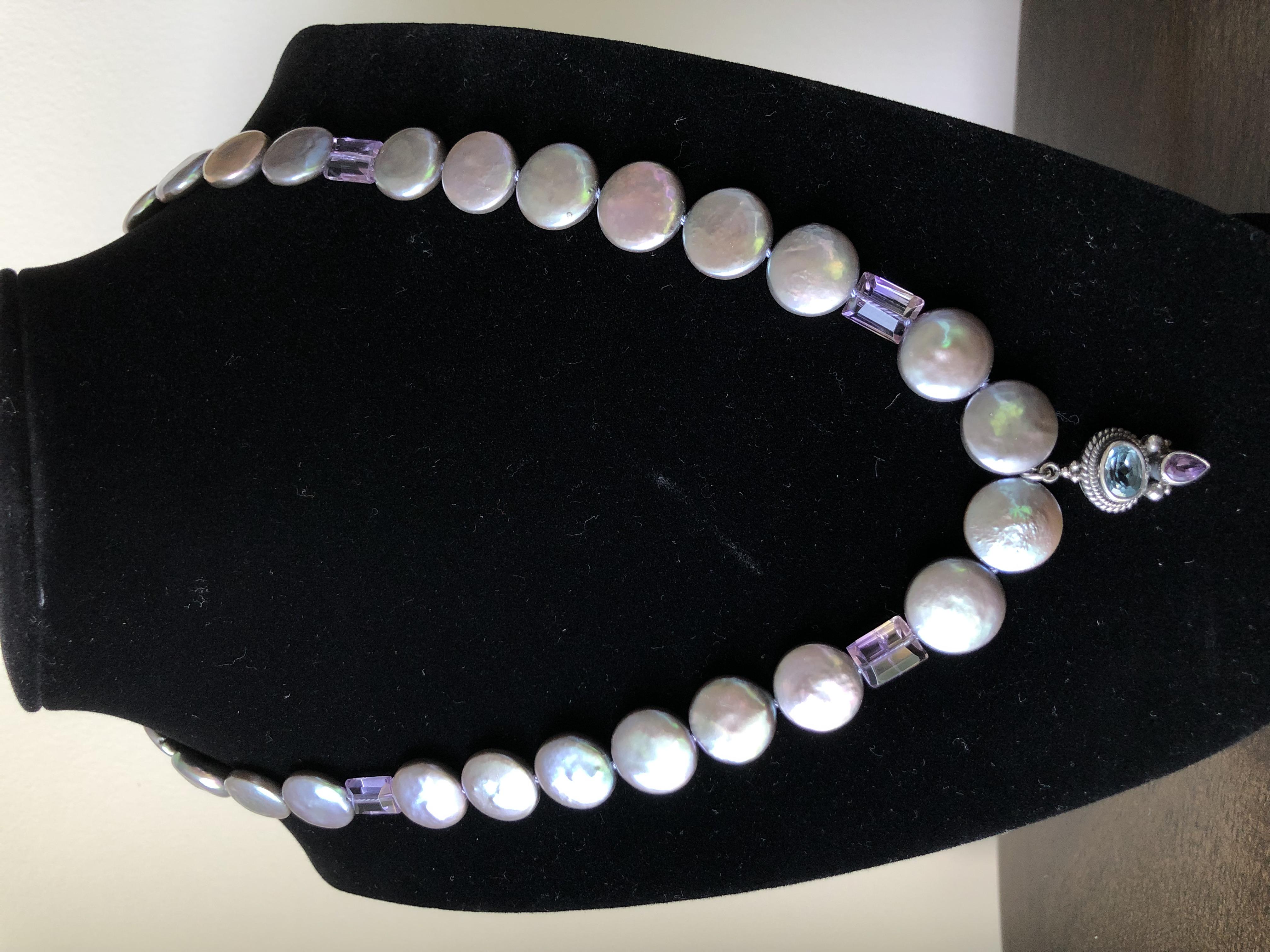 Earrings, Sterling Silver w/Labradorite Prisms & Balls.