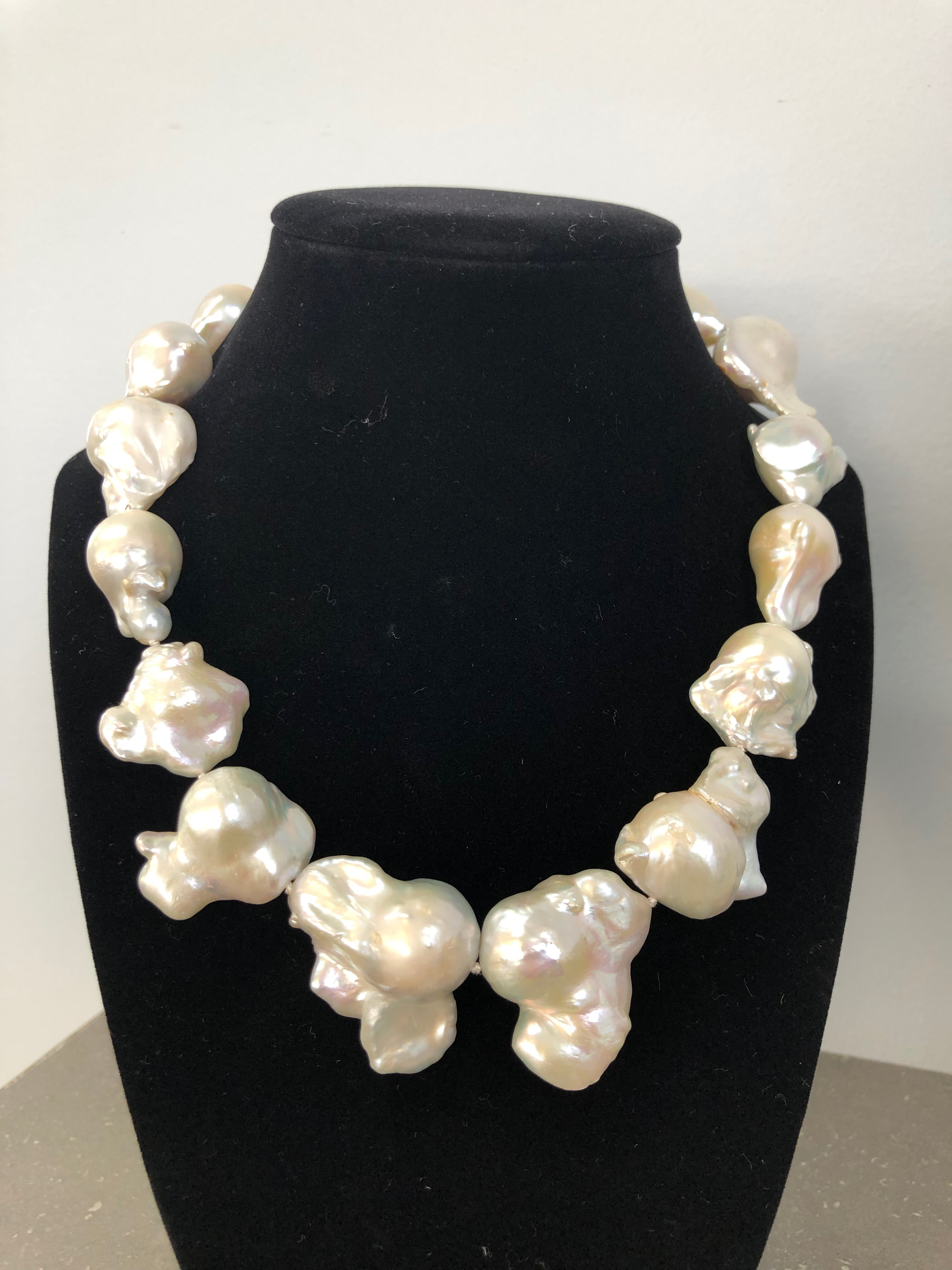 Freshwater White Baroque Pearl Necklace